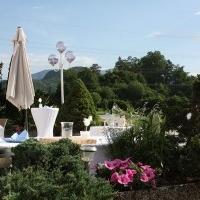 Terrasse Appartements Villa Rose am Klopeiner See